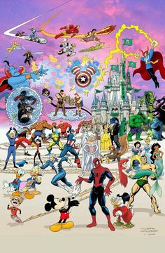 Awesome Superhero and Disney Characters