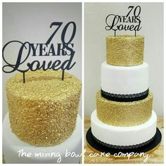 70 Years Loved  by The Mixing Bowl Cake Company