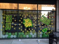 MSSU had a window judging contest for homecoming! Football Homecoming, Homecoming Week, Homecoming Ideas, School Spirit Posters, Homecoming Decorations, Football Spirit, Spirit Signs, Friday Night Lights, School Events