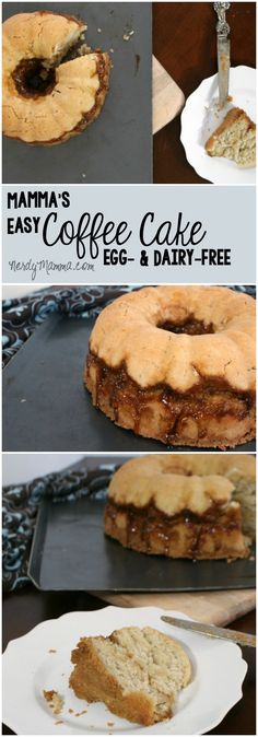 I can't believe how easy this coffee cake was to make and, get this, it's eggless and dairy-free! LOVE!