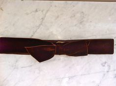 Marc by Marc Jacobs Brown Velvet Belt Small via The Queen Bee. Click on the image to see more!