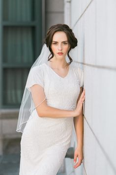 Modest wedding dress trends for These are perfect for LDS brides and any bride looking for something stylish with sleeves for her big day. Wedding Dress Trends, Modest Wedding Dresses, Wedding Blog, Wedding Ideas, Latter Day Bride, Lds Bride, Bride Gowns, Bride Look, Compliments