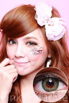 Geo bella green circle lenses (colored contacts)