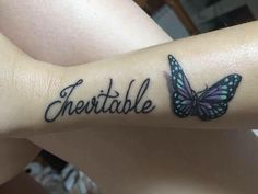 Tatto inevitable, mariposa