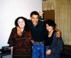 President with his Mother and Sister.