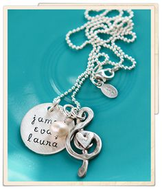you make my heart sing - sweet necklace by the vintage pearl