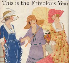 Vintage 1920s Fashion Plates Sewing Pattern Advertisements