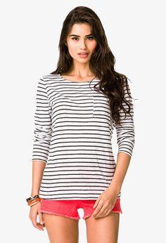 Birthday Wishlist! FOREVER 21 Long Sleeve Striped Tee on shopstyle.com