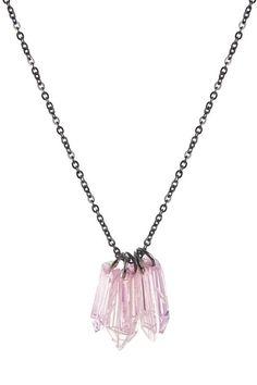 Crystal Gem pink pendant