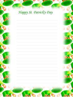 st patrick's stationery | Lined Stationery - St. Patrick's Day