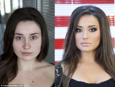 Russian make-up artist Vadim Andreev says he can give any woman a cover girl transformation by simply using cosmetics