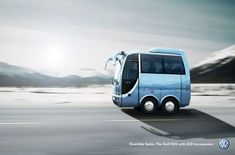 Volkswagen Golf Campaign by Fabian Kirner, via Behance Ferdinand Porsche, Weird Cars, Cool Cars, Vw Golf R32, Volkswagen R32, Smart Car Body Kits, Short Bus, Automobile, Mini Bus