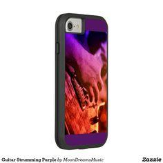 #GuitarStrummingPurple #iPhone7 #ExtremeToughCase by #MoonDreamsDesigns