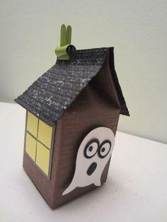 Stampin' Up!  Milk Carton  Sylvia Phan  Halloween Owl Ghost