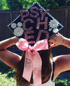 Graduation cap Graduation cap decoration College  Psychology cap
