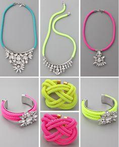 #pink #turquoise #yellow #bein #necklace #diamond #fashion