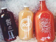 Rachel's Ginger Beer (Growlers) by Aaron Bloom simple packaging and white type