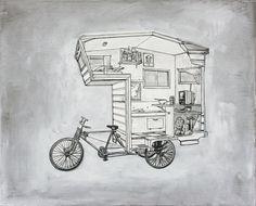 sketch - camper bike by kevin cyr