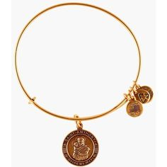 Alex and Ani 'St. Anthony' Wire Bangle ($28) ❤ liked on Polyvore featuring jewelry, bracelets, russian gold, expandable charm bangle, bangle charms, bangle charm bracelet, wire jewelry and bracelets & bangles