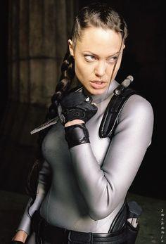 Angelina as Lara Croft - Tomb Raider