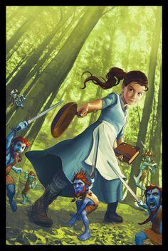 Tiffany Aching on Behance Discworld Characters, Discworld Books, High Fantasy, Fantasy Art, Tiffany Aching, Terry Pratchett Discworld, Comic Style Art, Witch Art, Fantasy Illustration