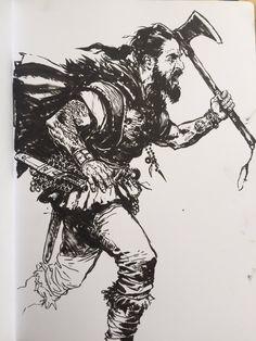 Ink Illustrations, Illustration Art, Human Painting, Samurai Art, Dc Comics Art, Guy Drawing, Sketch Painting, Cool Sketches, Fantasy Artwork