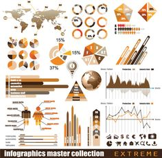 Infographics and chart design elements 2 | Free Vector