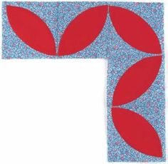 Block Leaf Quilt Border Pattern pdf