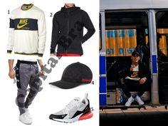 deab8a190baf3 Capital Bra - 5 Songs in einer Nacht Outfit mit seinem Nike Pullover und  Nike Air