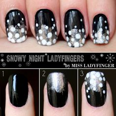 Snowy Night Ladyfingers #colorshow