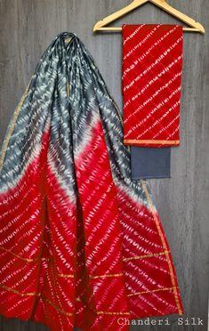 Price Rs 1600 + Shipping extra Hand block Printed chanderi silk dress materials Top and dupattas chanderi silk (2.50×2 mtrs) Bottom cotton (2.50 meters) Chanderi Suits, Chanderi Silk Saree, Silk Sarees, Churidar Suits, Anarkali Suits, Salwar Kameez, Elegant Fashion Wear, Trendy Fashion, Suits For Women