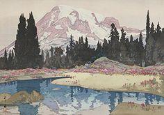 Japanese Art Print Mt. Rainier  Reniya-Yama  from the American Series by Yoshida Hiroshi. Shin Hanga and Art Reproductions http://www.amazon.com/dp/B00Y0KJSU4/ref cm_sw_r_pi_dp_O9yswb165FBV1