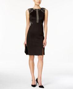 Ivanka Trump Embroidered Lace Sheath Dress - Brought to you by Avarsha.com