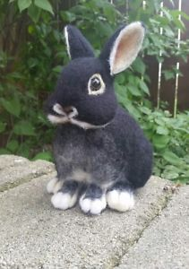 OOAK-Needle-Felted-Black-Fox-Netherland-Dwarf-Bunny-Rabbit-by-Tatiana-Trot