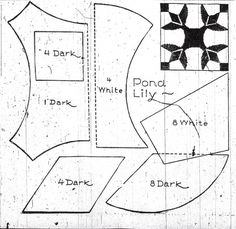 Old Quilt Block Patterns | ... Lily quilt block design shown in The Denver Post on March 2, 1933
