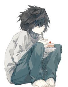 L despues de que Mugi le comiera la fresa a Yui