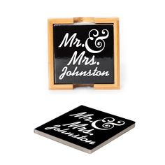 Ceramic Coasters (set of 4) - Mr & Mrs. Personalized