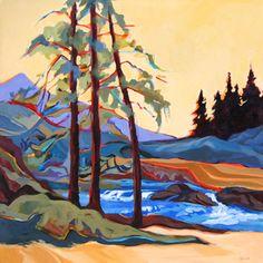 """Sweet Creek Trail,"" painting by Carolee Clark"