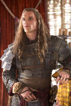 Daario Naharis in armor (Ed Skrein). Game of Thrones. He was perfect for this part! *drools* he should have stayed :(