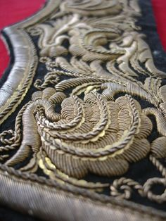 Military uniform embroidery