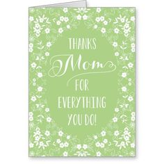 Elegant Floral Mothers Day Card  @creativework247