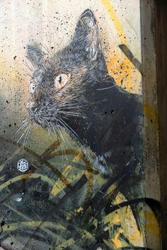 Paris Street Art-Vitry-sur-Seine - place Jean Martin - street art - c215