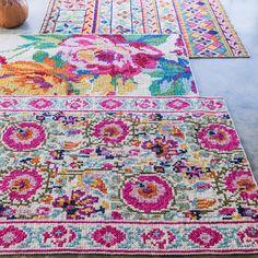 Folk Rugs - Home Sweet Home, Rug Flower Cross Stitch Rug, Folk Homespun Rug Jute Rug, Kilim Rugs, Rugs On Carpet, Carpets, Welcome To My House, Sheepskin Rug, Natural Rug, Floor Decor, Persian Carpet
