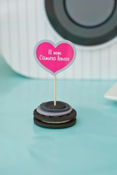 DIY Instagram cookies using Oreos! For an Instagram party... 11mm lens for an 11th birthday party