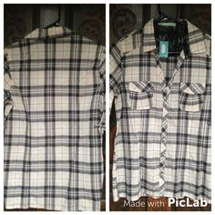NWT Maurice's plaid blouse Medium Bought at full price as liked the details on this top but have not worn. In perfect shape. :) Maurices Tops Button Down Shirts