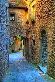 Medieval Street Tuscany, Italy