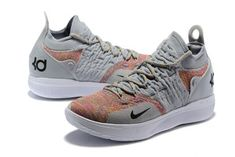 8c9ee71a4c8 New Release Nike KD 11 Cool Grey Multi-Color Shoes-3 Shoe Collection