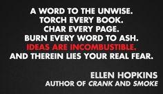 Ellen Hopkins #bannedbooksweek
