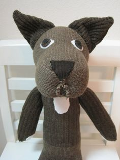 This adorable sock dog was a custom order meant to look like the customers own pet dog. Sock Toys, Pet Dogs, Pets, Sock Animals, Etsy Store, Dyi, Socks, Dogs, Sock