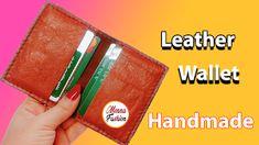 انواع الجلد الطبيعي وعمل محفظة رجالي Leather Wallet Leather Handmade
